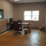 Manager office space in warehouse on Lot 1
